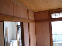 塗り壁のため大工さんにベニヤで下地を作ってもらった和室