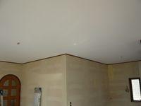 天井部分のクロス貼りが完了