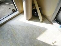 床のヒビ割れ補修処理